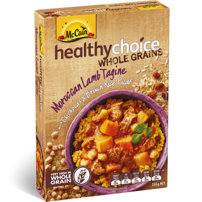 Healthy Choice Wholegrains Moroccan Lamb Tagine with Chickpeas and Brown Rice Pilaf