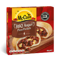 BBQ Angus Beef Pizza Pockets 400g