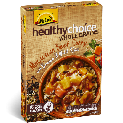 Healthy Choice Wholegrains Malaysian Beef Curry with Brown and Wild Rice