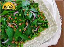 Pea, Lentil and Bacon Salad